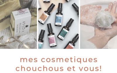 """mes cosmetiques """"chouchous"""""""